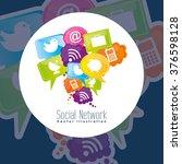 social network design  | Shutterstock .eps vector #376598128