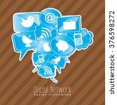 social network design  | Shutterstock .eps vector #376598272