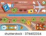 colorful travel vector banner.... | Shutterstock .eps vector #376602316