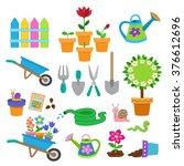 gardening icon set.  raster... | Shutterstock . vector #376612696