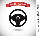 Постер, плакат: Steering wheel icon vector
