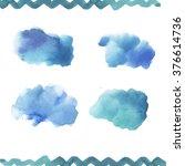 watercolor blobs  | Shutterstock . vector #376614736