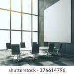 blank white poster in modern... | Shutterstock . vector #376614796