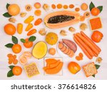 orange fruit and vegetables... | Shutterstock . vector #376614826