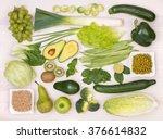 green fruit and vegetables  top ... | Shutterstock . vector #376614832