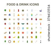 food   drink icon set. vector... | Shutterstock .eps vector #376615516