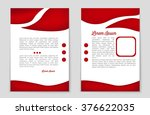 red vector flyer for web and... | Shutterstock .eps vector #376622035