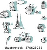 retro backgrounds and vintage... | Shutterstock .eps vector #376629256