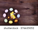 easter rabbit and easter egg | Shutterstock . vector #376635052