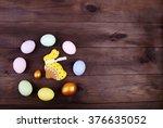 easter rabbit and easter egg | Shutterstock . vector #376635052