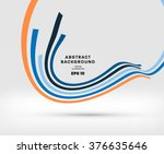 abstract perspective curve... | Shutterstock .eps vector #376635646
