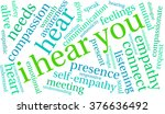 i hear you word cloud on a... | Shutterstock .eps vector #376636492