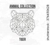 geometric vector animal tiger... | Shutterstock .eps vector #376650628