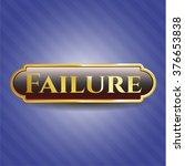 failure gold badge or emblem | Shutterstock .eps vector #376653838