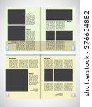 vector brochure template design | Shutterstock .eps vector #376654882