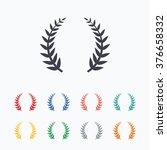laurel wreath sign icon.... | Shutterstock . vector #376658332