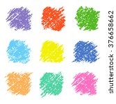 set of colored wax crayon... | Shutterstock .eps vector #376658662