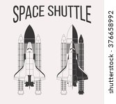 american space shuttle design... | Shutterstock . vector #376658992