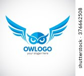 business corporate owl logo... | Shutterstock .eps vector #376662508