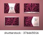 vector vintage visiting card... | Shutterstock .eps vector #376665016