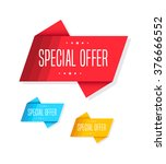 special offer tags | Shutterstock .eps vector #376666552