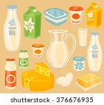 dairy product milk vector icon... | Shutterstock .eps vector #376676935