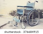 Vintage Old Wheelchairs With...