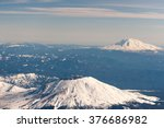 Mt. St. Helens With Mt. Adams...