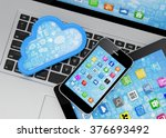 laptop  tablet pc  smart phone... | Shutterstock . vector #376693492