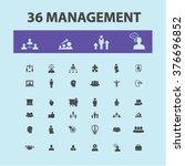 management icons | Shutterstock .eps vector #376696852
