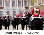 Horse Guards In Front Each...