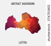 latvia map in geometric...   Shutterstock .eps vector #376701802