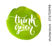 think green label. handmade... | Shutterstock .eps vector #376703998
