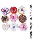 delicious  fun  colorful donuts.... | Shutterstock . vector #376710205