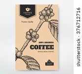 coffee packaging design. coffee ... | Shutterstock .eps vector #376712716