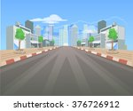 background city for game.  ... | Shutterstock .eps vector #376726912