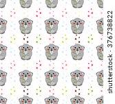 seamless vector pattern. kawaii ...   Shutterstock .eps vector #376738822