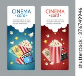 cinema movie card set isolated... | Shutterstock . vector #376749946