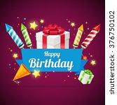 birthday card  flyer or placard.... | Shutterstock . vector #376750102