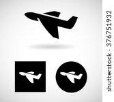 plane icon set vector eps10 ... | Shutterstock .eps vector #376751932