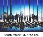 business people working working ... | Shutterstock . vector #376756126