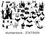 Collection Of Halloween Symbol...