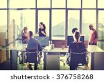 business communication... | Shutterstock . vector #376758268