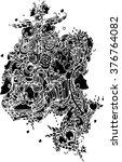 black and white of line art... | Shutterstock .eps vector #376764082