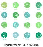 set with different icons with... | Shutterstock .eps vector #376768108