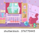 baby room. vector flat... | Shutterstock .eps vector #376770445