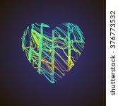 bright heart. stock vector. | Shutterstock .eps vector #376773532