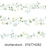floral endless pattern brushes... | Shutterstock .eps vector #376774282