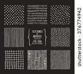 hand drawn textures and brushes.... | Shutterstock .eps vector #376774942