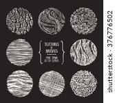 hand drawn textures and brushes.... | Shutterstock .eps vector #376776502